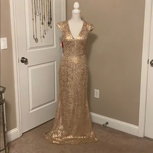 Bari jay sequin formal gown